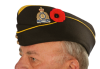 Placement of the poppy with and without headdress, male and female.
