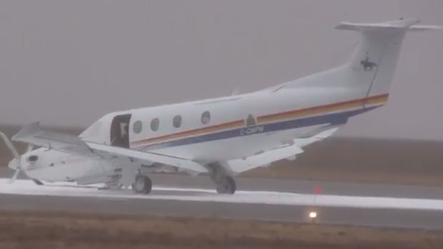 A pilot landed this airplane in Gander on Wednesday afternoon after the nose gear malfunctioned.