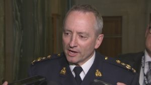 """Saskatchewan RCMP commanding officer Curtis Zablocki said in a statement on Monday that the relationship between police and Indigenous people in the province was not """"deeply fractured"""", as claimed by Human Rights Watch Canada director Farida Deif. (CBC)"""