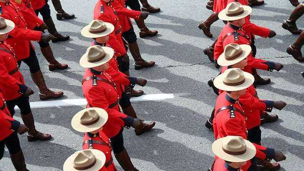 Commissioned Officers On Parade
